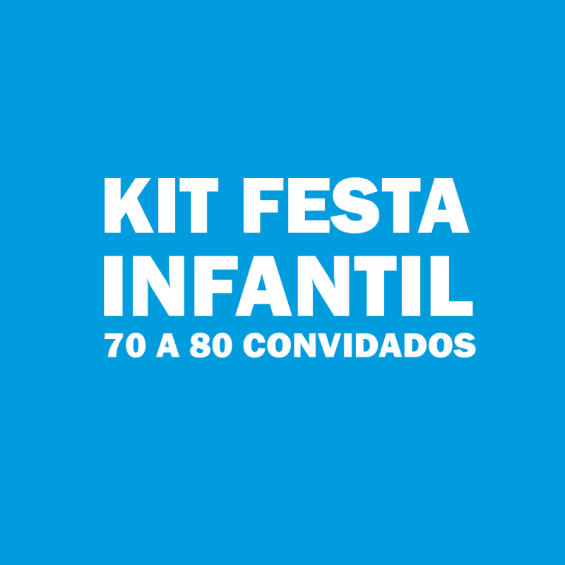 Kit Festas Aniversário Infantis Piqueri - Kit Festa Infantil Bolo Doces e Salgados