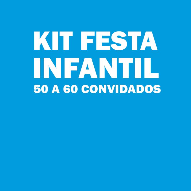 Onde Tem Kit de Festa Infantil para 50 Pessoas Engenheiro Goulart - Kit para Festa Infantil
