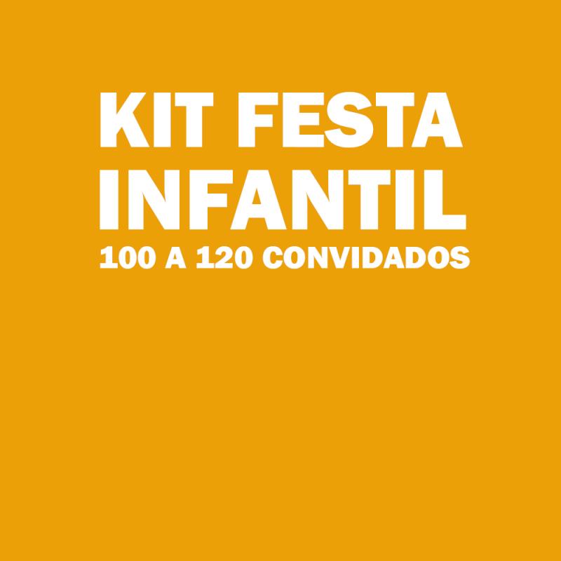 Onde Tem Kit Festa Infantil para 100 Pessoas Mauá - Kit Festa Infantil Bolo Doces e Salgados