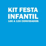 kit festa infantil para 100 pessoas Parque do Carmo